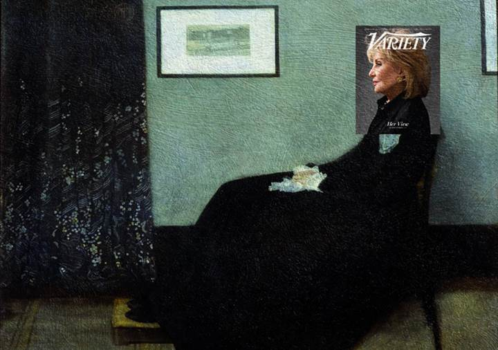 Barbara Walters- Arrangement in Grey and Black No.1 (Whistler's Mother)